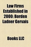 Law Firms Established in 2000: Borden Ladner Gervais