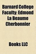 Barnard College Faculty: Edmond La Beaume Cherbonnier