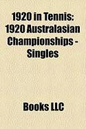 1920 in Tennis: 1920 Australasian Championships - Singles