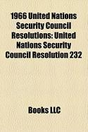 1966 United Nations Security Council Resolutions: United Nations Security Council Resolution 232