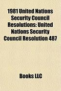 1981 United Nations Security Council Resolutions: United Nations Security Council Resolution 487