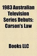 1983 Australian Television Series Debuts: Carson's Law