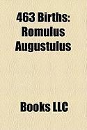 463 Births: Romulus Augustulus
