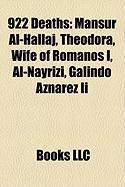 922 Deaths: Mansur Al-Hallaj