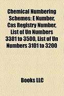 Chemical Numbering Schemes: E Number