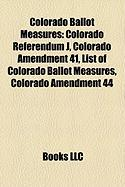 Colorado Ballot Measures: Colorado Referendum J