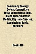 Community Ecology: Competitive Lotka-Volterra Equations