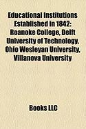 Educational Institutions Established in 1842: Ohio Wesleyan University