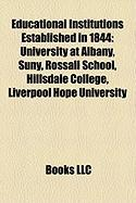 Educational Institutions Established in 1844: University at Albany, Suny