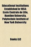 Educational Institutions Established in 1854: Hamline University