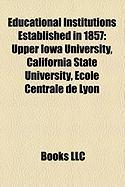 Educational Institutions Established in 1857: San Jose State University