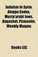 Judaism in Syria: Aleppo Codex