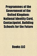 Programmes of the Government of the United Kingdom: National Identity Card