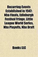 Recurring Events Established in 1947: NBA Finals