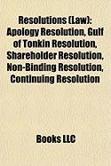 Resolutions (Law): Apology Resolution