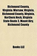 Richmond County, Virginia: Northern Neck