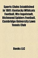 Sports Clubs Established in 1881: Kentucky Wildcats Football