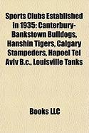 Sports Clubs Established in 1935: Canterbury-Bankstown Bulldogs
