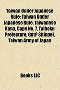 Taiwan Under Japanese Rule: St'at'imcets Language