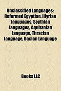 Unclassified Languages: Illyrian Languages