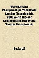 World Snooker Championships: 2009 World Snooker Championship