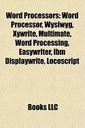 Word Processors: Word Processor