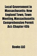 Local Government in Massachusetts: New England Town