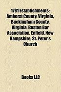 1761 Establishments: Boston Bar Association