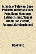 Islands of Palawan: Cuyo, Palawan, Tubbataha Reef, Pamalican, Manamoc, Balabac Island, Sangat Island, San Vicente, Palawan, Carabao Island