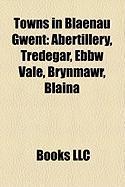 Towns in Blaenau Gwent: Abertillery, Tredegar, Ebbw Vale, Brynmawr, Blaina