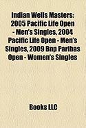 Indian Wells Masters: 2005 Pacific Life Open - Men's Singles, 2004 Pacific Life Open - Men's Singles, 2009 Bnp Paribas Open - Women's Single