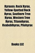 Hyraxes: Rock Hyrax, Yellow-Spotted Rock Hyrax, Southern Tree Hyrax, Western Tree Hyrax, Titanohyrax, Kvabebihyrax, Pliohyrax