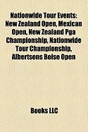 Nationwide Tour Events: New Zealand Open, Mexican Open, New Zealand PGA Championship, Nationwide Tour Championship, Albertsons Boise Open