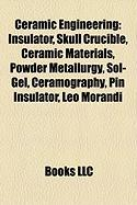 Ceramic Engineering: Insulator, Skull Crucible, Ceramic Materials, Powder Metallurgy, Sol-Gel, Ceramography, Pin Insulator, Leo Morandi