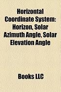 Horizontal Coordinate System: Horizon, Solar Azimuth Angle, Solar Elevation Angle