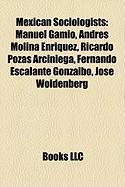 Mexican Sociologists: Manuel Gamio, Andres Molina Enriquez, Ricardo Pozas Arciniega, Fernando Escalante Gonzalbo, Jose Woldenberg