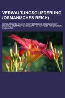 Verwaltungsgliederung (Osmanisches Reich)