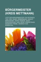 Bürgermeister (Kreis Mettmann)