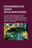 Bürgermeister (Kreis Recklinghausen)