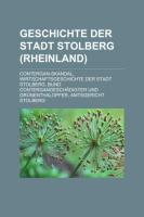 Geschichte Der Stadt Stolberg (Rheinland)