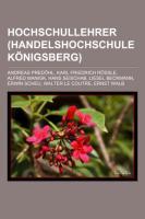 Hochschullehrer (Handelshochschule Königsberg)