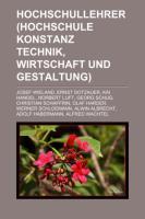 Hochschullehrer (Hochschule Konstanz Technik, Wirtschaft Und Gestaltung)