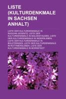 Liste (Kulturdenkmale in Sachsen-Anhalt)