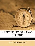 University of Texas Record