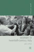 Women in Twentieth-Century Italy - Willson, Perry