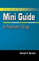 Delmar's Mini Guide to Psychiatric Drugs - Spratto, George R.