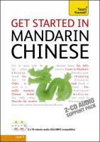 Teach Yourself Get Started in Mandarin Chinese - Scurfield, Elizabeth