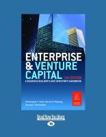 Enterprise and Venture Capital: A Business Builders' and Investors' Handbook (Large Print 16pt) - C. Golis, Christopher