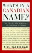What's in a Canadian Name? - Casselman, Bill