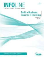 Build a Business Case for E-Learning - Sappington, Erin; Nokes, Jessi